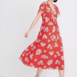 Madewell Floral Daisy Society Midi Dress